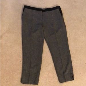 H&M black and white cropped work pants size 14